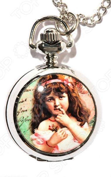 Кулон-часы Mitya Veselkov «Портрет девочки с лентой»