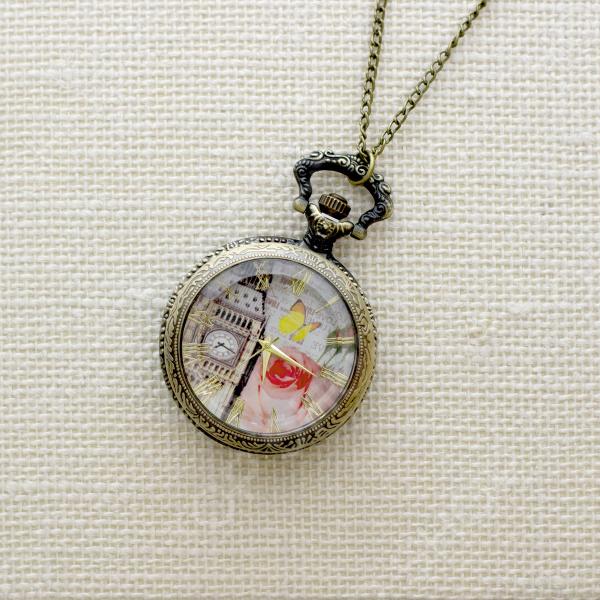 Кулон-часы Mitya Veselkov «Биг-бен и бабочка»