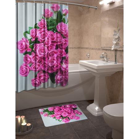 Купить Набор для ванной комнаты: шторка и коврик ТамиТекс «Презент»