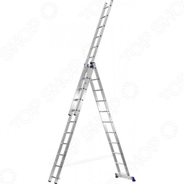 Лестница трехсекционная со стабилизатором Сибин 38833 1