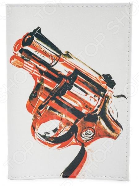 Обложка для паспорта кожаная Mitya Veselkov «Пистолет» mitya veselkov mitya veselkov kafka 29