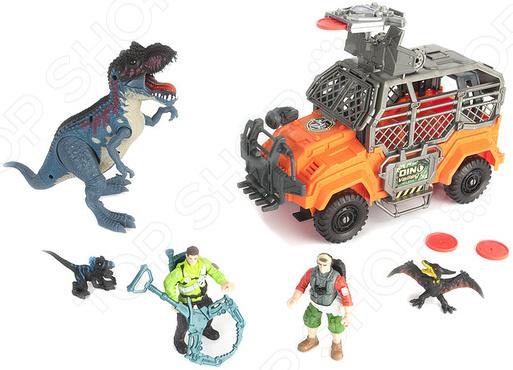 Игровой набор с фигурками Chapmei «Большая охота на Тиранозавра» игровые наборы esschert design набор игровой kg118