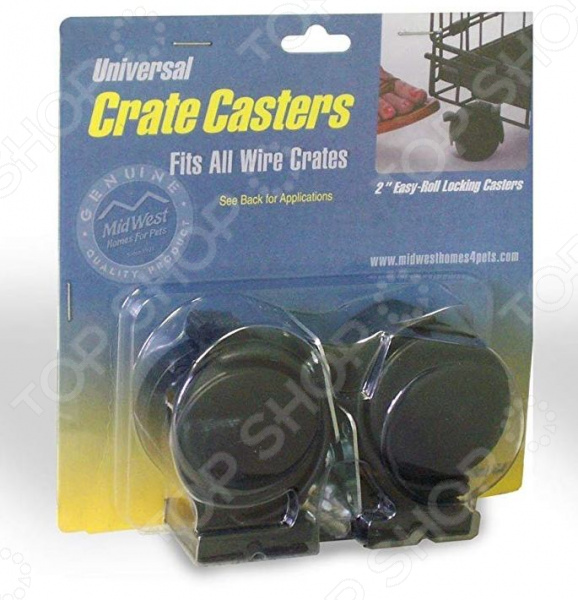 Колеса для клеток MidWest Universal Crate Caster 5 cast iron caster universal swivel castor with brake