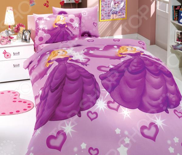 Детский комплект постельного белья Hobby Home Collection Prenses. Цвет: лиловый