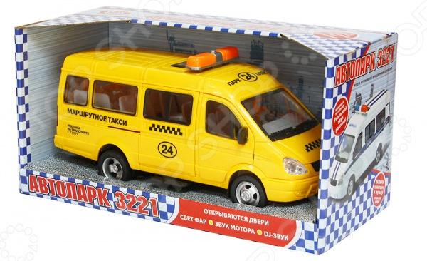 Машинка инерционная PlaySmart «Газель 3221 Такси» игрушка play smart газель 3221 пожарная р40526