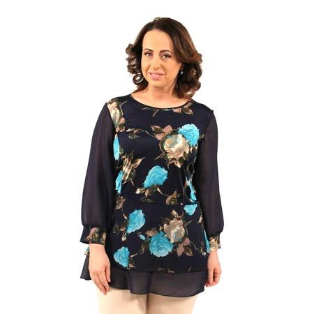 Купить Блуза Элеганс «Дионисия». Цвет: синий, бирюзовый