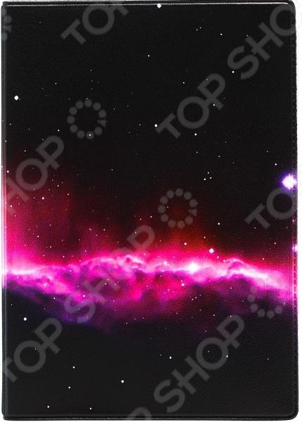 Обложка для автодокументов кожаная Mitya Veselkov «Ночное небо»
