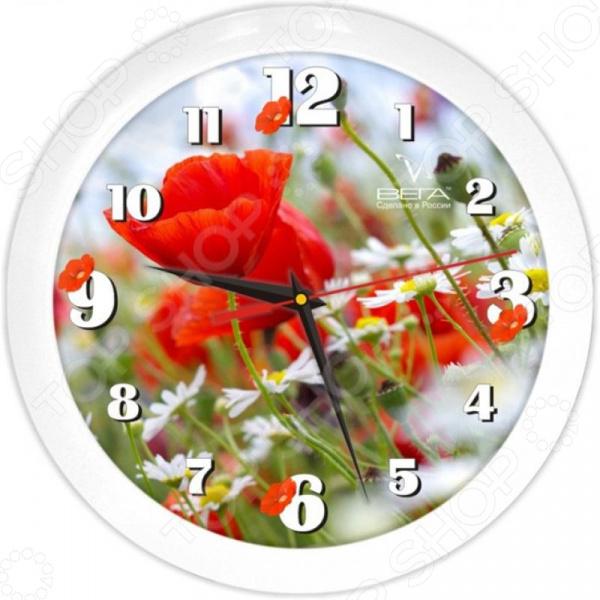 Часы настенные Вега П 1-7/7-187 «Маки» часы настенные вега п 1 7 7 271 классика