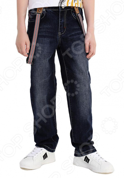 Брюки детские Finn Flare Kids KB17-85017. Цвет: темно-синий футболки и топы finn flare kids футболка для девочки kb17 71038