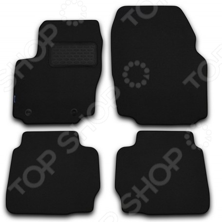 Комплект ковриков в салон автомобиля Novline-Autofamily BMW 5 E60 2003-2010. Цвет: черный