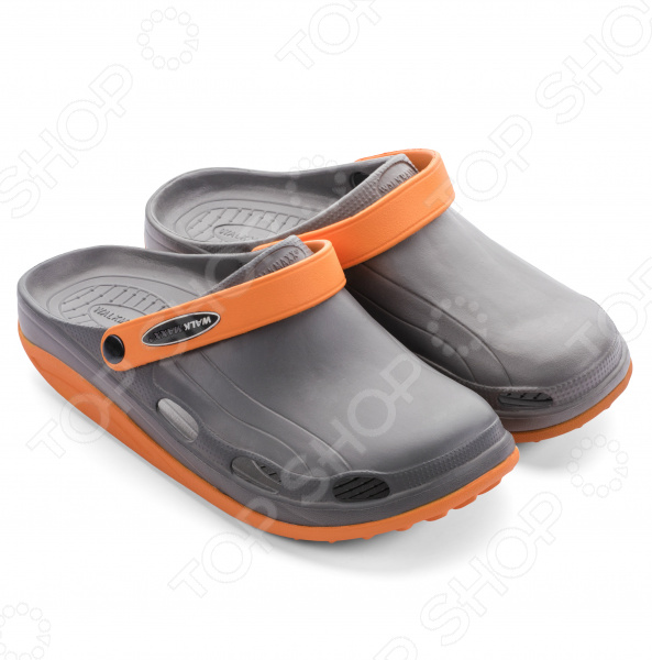 Клоги Walkmaxx Fit 3.0. Цвет: серый, оранжевый