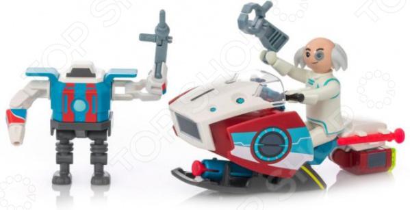 Игровой набор Playmobil «Супер4: Скайджет с Доктором Х и Робот»