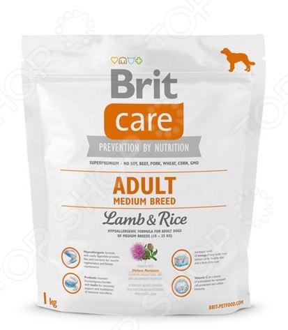 132711 Корм сухой для собак средних пород Brit Care Adult Medium Breed Lamb & Rice