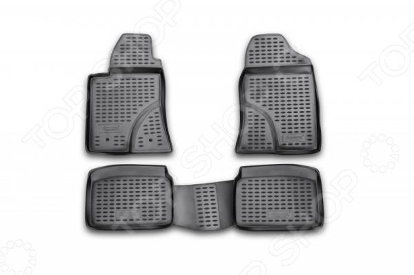 Комплект ковриков в салон автомобиля Novline-Autofamily Toyota Avensis 2003-2009 комплект 3d ковриков в салон автомобиля novline autofamily ford f250 f350 super crew 2009 2013