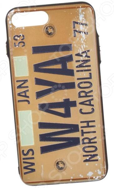 Чехол для iPhone 7 Plus/8 Plus с фактурным покрытием «Номер: Северная Каролина» чехлы накладки для телефонов кпк sonix rifle paper co iphone plus