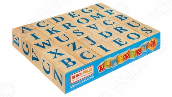 Кубики развивающие Теремок «Алфавит английский» апплика пазл для малышей английский алфавит цвет основы желтый