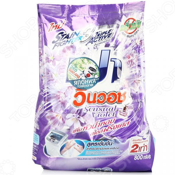 Порошок стиральный для деликатных тканей LION Thailand «Победитель». Цвет: фиолетовый