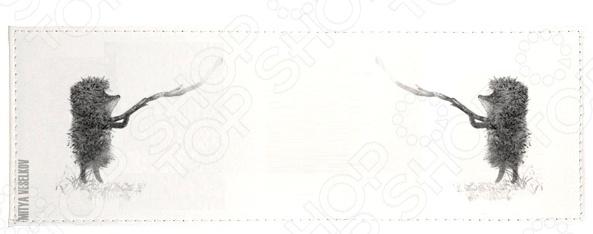 Обложка для студенческого билета Mitya Veselkov «Ежик с веточкой» обложка для паспорта mitya veselkov ежик с веточкой