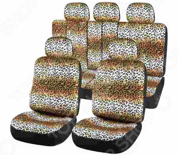 Набор чехлов для сидений SKYWAY Safari «Леопард»