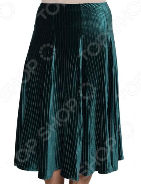 Юбка Pretty Woman «Нежный бархат». Цвет: изумрудный юбка pretty woman загодочный блеск цвет зеленый