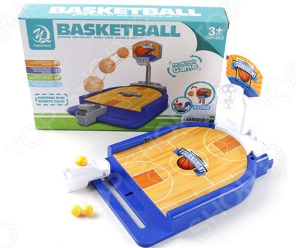 Баскетбол настольный со светозвуковыми эффектами Наша Игрушка 5777-22A настольный баскетбол 36х5 5х25 см т10823