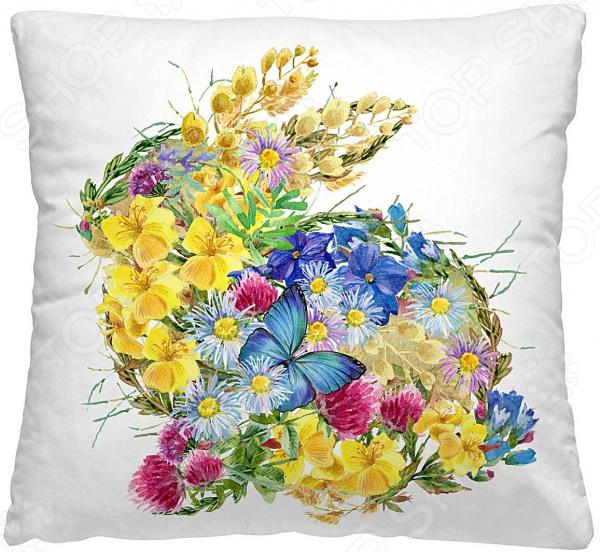 Подушка декоративная Волшебная ночь «Цветочный заяц»