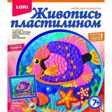 Купить Набор для создания картины из пластилина Lori «Морская рыбка»