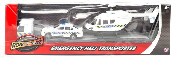 Набор игровой с машинкой HTI «Перевозчик и вертолет» набор игровой с машинкой hti спасательная команда в ассортименте