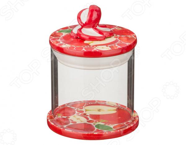 Банка для сыпучих продуктов Lefard «Яблоко» емкости неполимерные rich line home decor банка для сыпучих продуктов