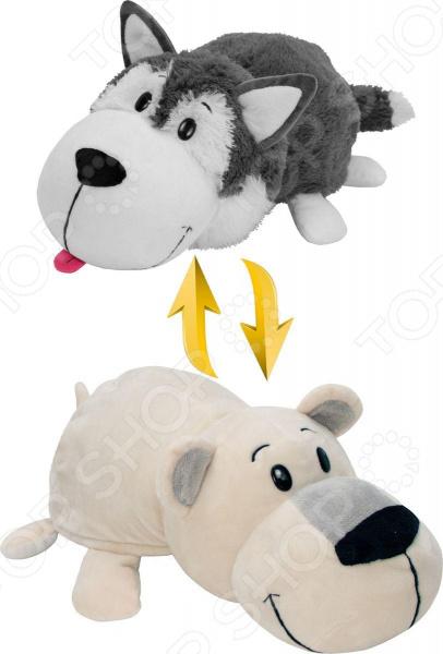 Мягкая игрушка 1 Toy «Вывернушка 2в1: Хаски-Полярный медведь»