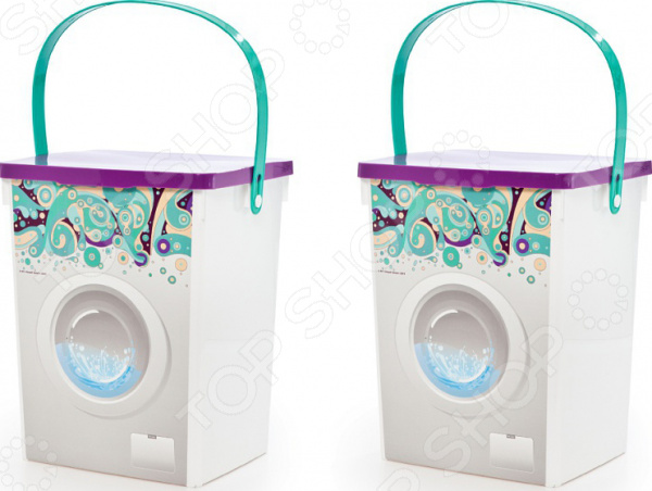 Набор контейнеров для стирального порошка Полимербыт «Мыльные пузыри»
