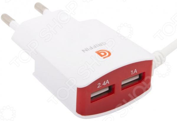 Устройство зарядное сетевое Griffin Apple 8 pin зарядное устройство griffin powerjolt black gc39941