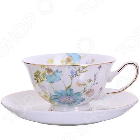 Чайный набор премиум «Голубой цветок» на 6 персон