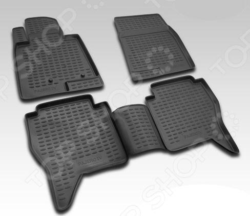 Комплект ковриков в салон автомобиля Novline-Autofamily Ford Ranger 2011 комплект ковриков в салон автомобиля novline autofamily kia rio 2011 цвет бежевый