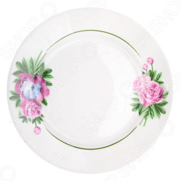 Тарелка десертная ДФЗ «Пион»