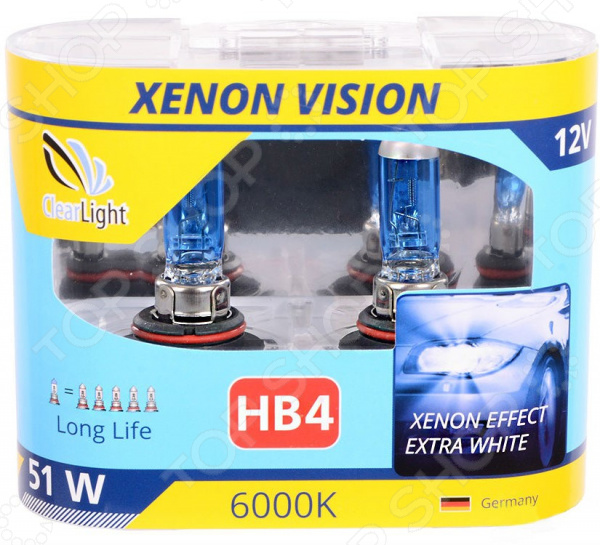 Комплект автоламп галогенных ClearLight XenonVision HB4 12V-55W