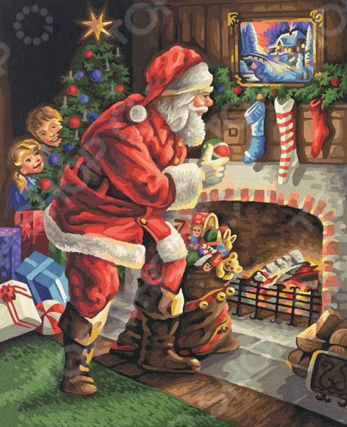 Набор для рисования по номерам Schipper «Санта Клаус у камина»