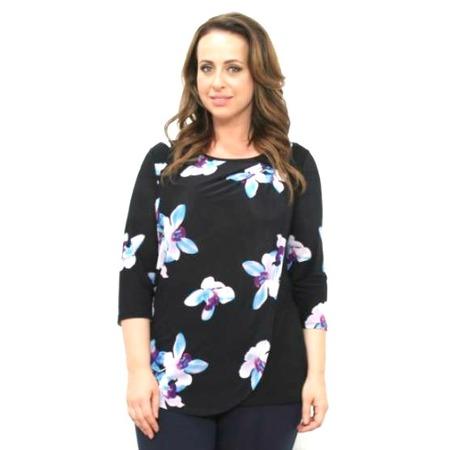 Купить Блуза Матекс «Орхидеи». Цвет: синий