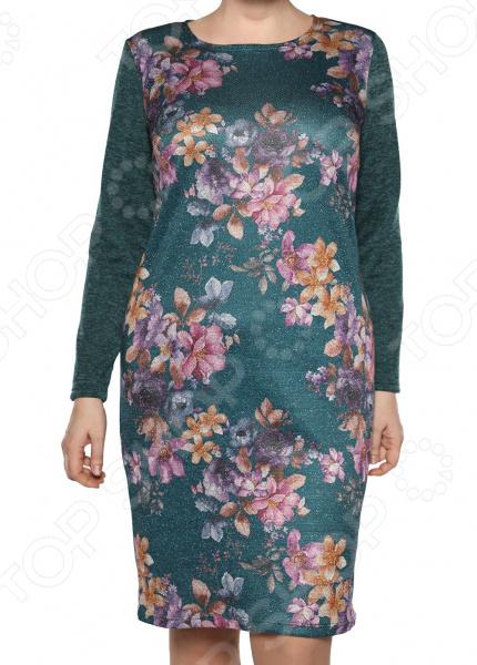 Платье Лауме-Лайн «Бархатный блюз». Цвет: изумрудный
