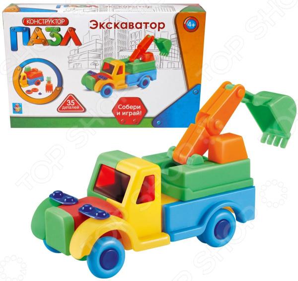Конструктор игровой для ребенка 1 Toy «Экскаватор» каталки toysmax экскаватор 3 в 1