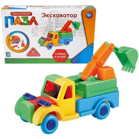 Купить Конструктор игровой для ребенка 1 Toy «Экскаватор»