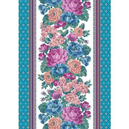 Купить Полотенце кухонное вафельное ТексДизайн «Жаклин». Цвет: голубой
