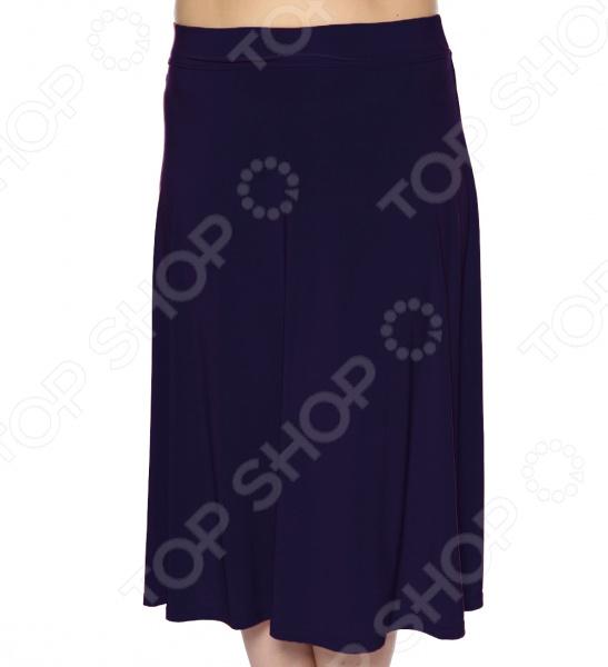 Юбка VEAS «Элегантная». Цвет: темно-синий