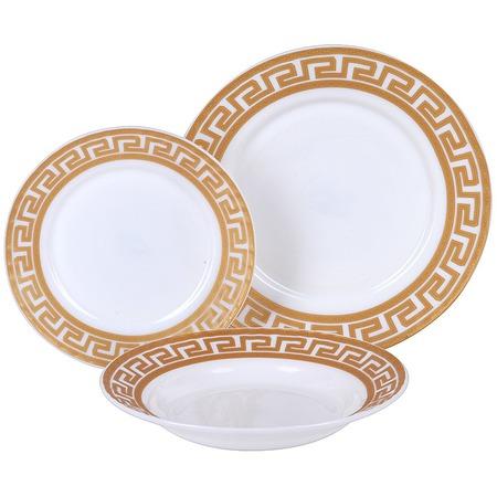 Купить Набор столовой посуды Rosenberg «Грация». Количество предметов: 18. Рисунок: греческий орнамент