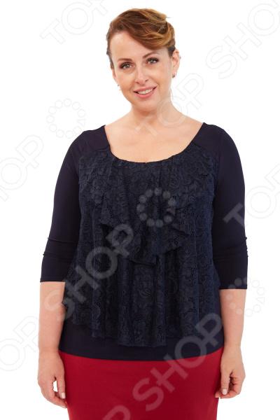 Блуза Элеганс «Любимая женщина». Цвет: темно-синий блуза modna ya цвет темно синий