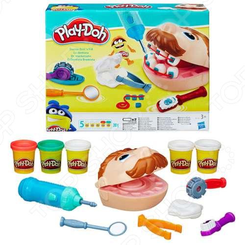 Набор пластилина игровой Hasbro Play-Doh «Мистер Зубастик» набор для лепки мистер зубастик play doh