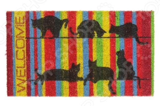 Коврик придверный Vortex «Кошки». Высота ворса: 15 мм