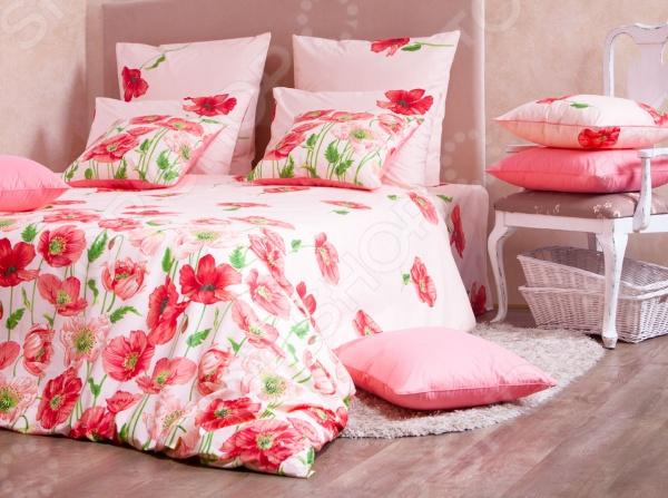 Комплект постельного белья MIRAROSSI Carolina pink комплект белья mirarossi domenica семейный наволочки 70х70 цвет белый коралловый зеленый