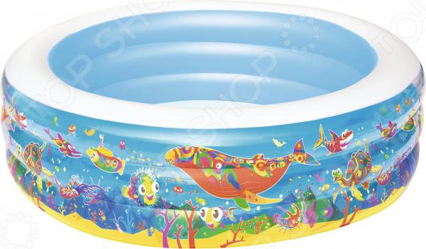 Бассейн надувной Bestway «Подводный мир» 51122B бассейны bestway бассейн надувной 51122 аквариум