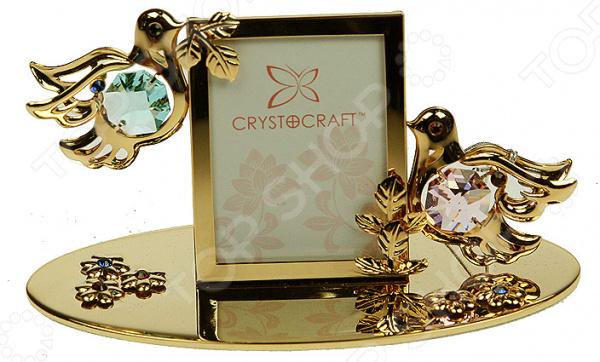 Фоторамка Crystocraft «Влюбленные голубки» с кристаллами Swarovski 67513